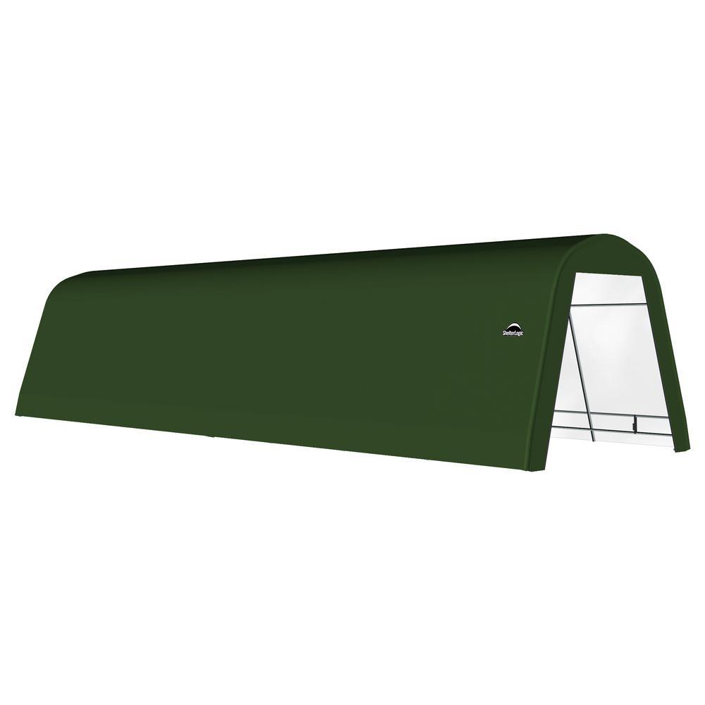 12 ft. x 30 ft. x 10 ft. Green Galvanized Steel