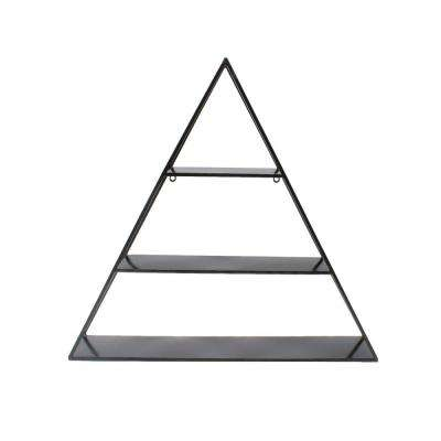 Tildan 6 in. x 28 in. x 27 in. Black Metal Decorative Wall Shelf