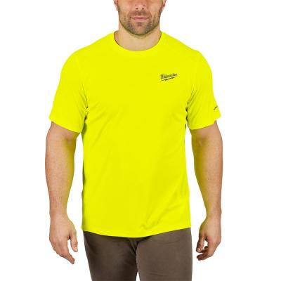 Men's Large Hi-Vis GEN II WORKSKIN Light Weight Performance Short-Sleeve T-Shirt
