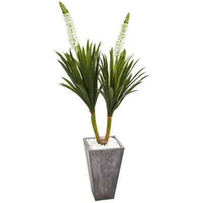 Indoor 6 ft. Yucca Artificial Plant in Cement Planter