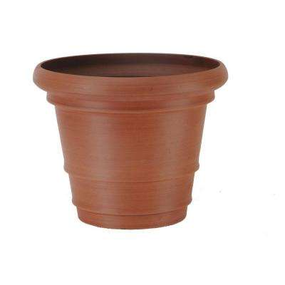 Double Rim 22 in. x 17 in. Terra Cotta PSW Pot