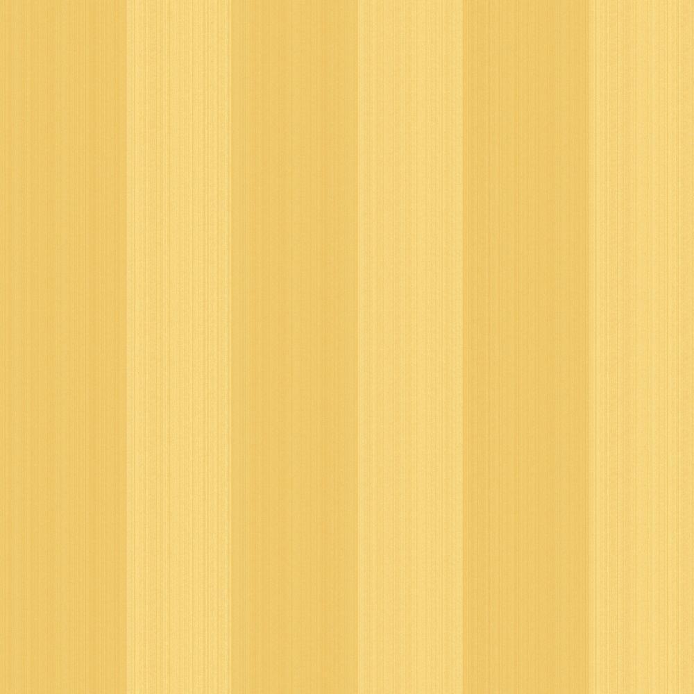 The Wallpaper Company 56 sq. ft. Yellow Stria Stripe Wallpaper