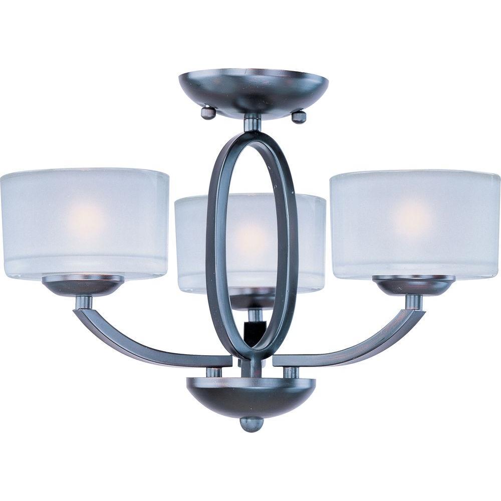 Elle 3-Light Oil-Rubbed Bronze Semi-Flush Mount Light