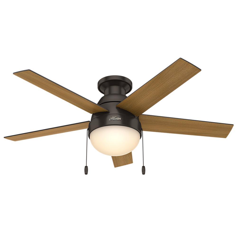 Ceiling Fans Product : Hunter anslee in indoor low profile premier bronze