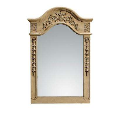 24 in. x 36 in. Framed Single Wall Mirror in Antique Parchment