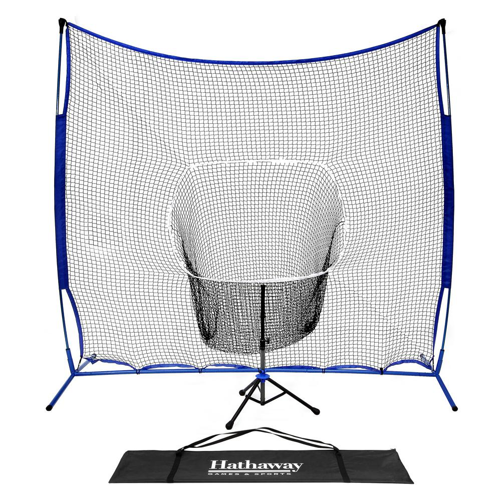 7 ft. Power Stroke Baseball Hitting Net System with Adjustable Batting