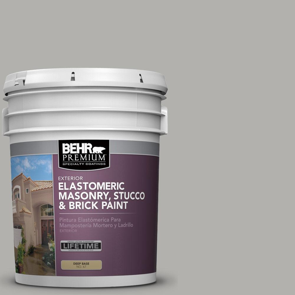 5 gal. #BXC-25 Colonnade Gray Elastomeric Masonry, Stucco and Brick Exterior