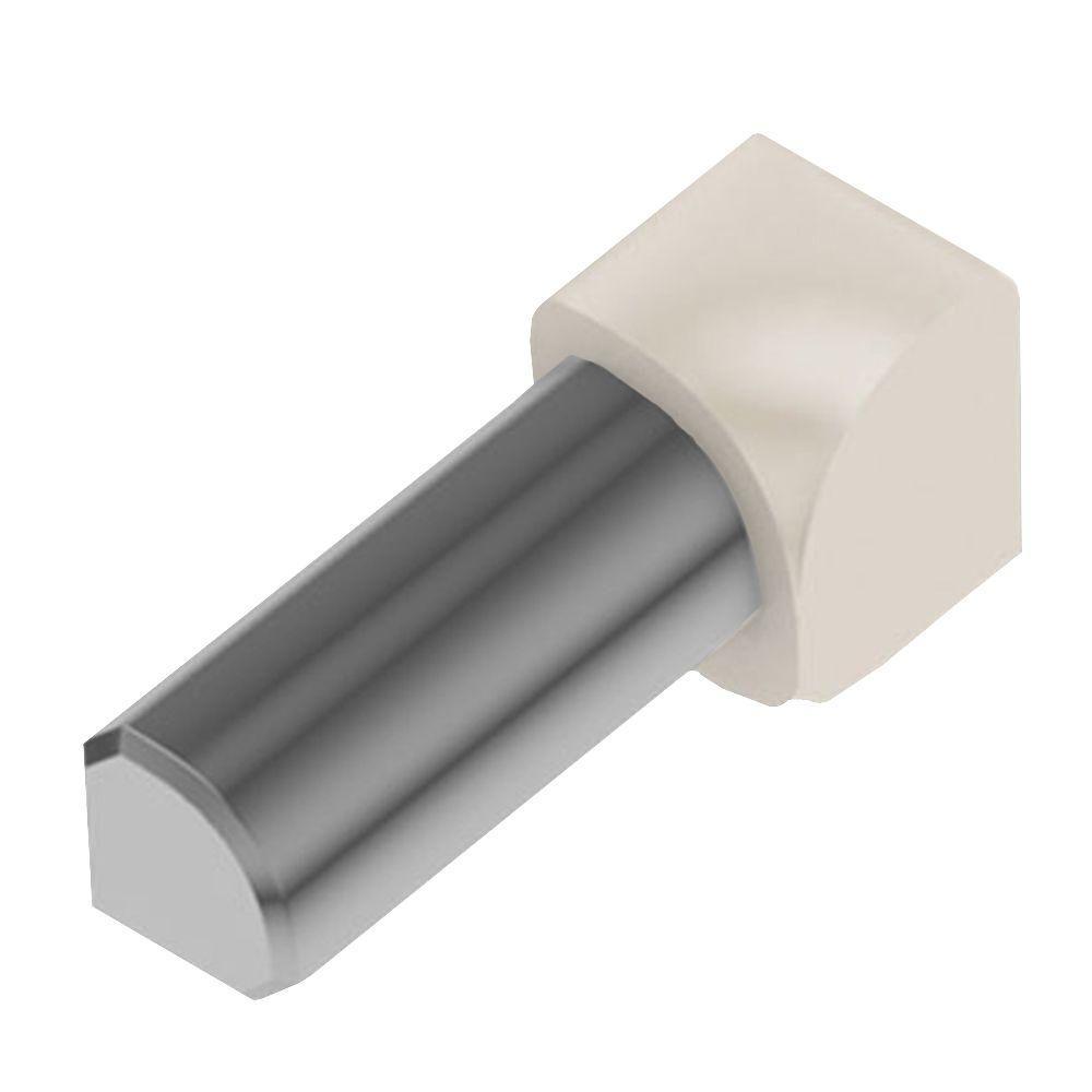 Schluter Rondec Sand Pebble Color-Coated Aluminum 1/2 in. x 1 in. Metal 90° Inside Corner