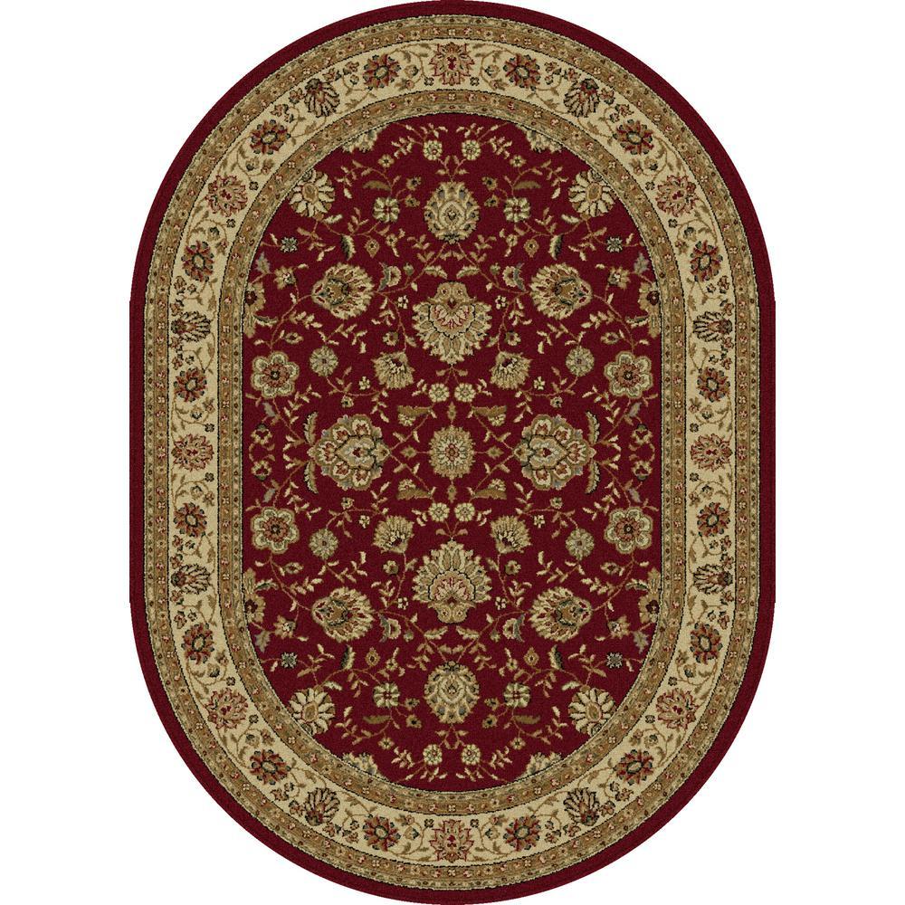 tayse rugs elegance red 6 ft