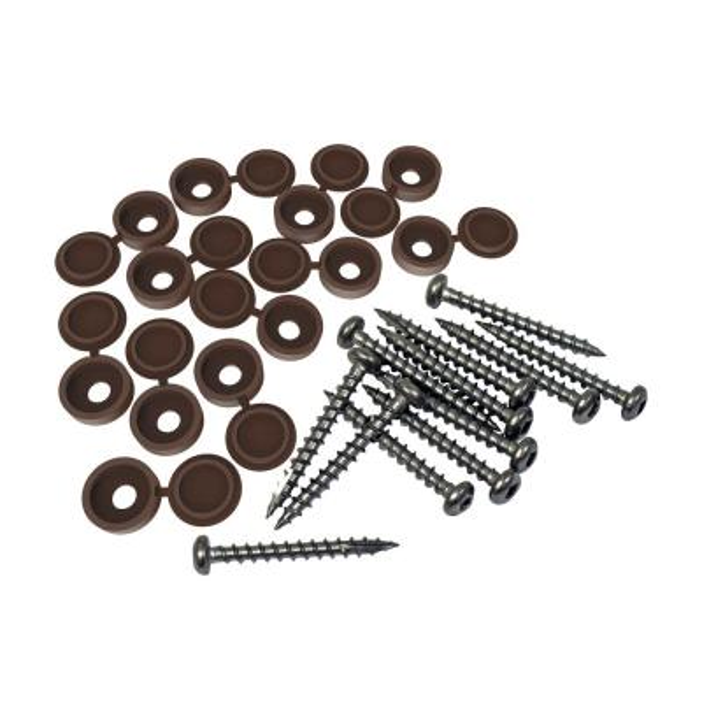 Brazilian Walnut Designer Series Fastener (12-Pack)