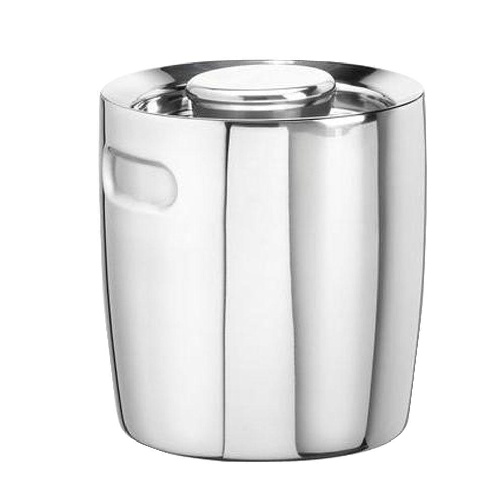 kraftware 1 5 qt no handle insulated ice bucket in polished