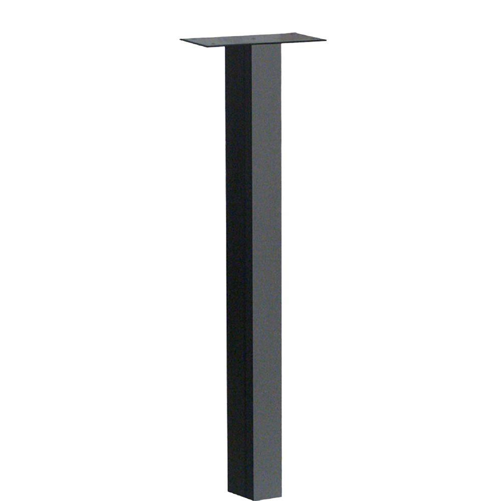 Mailbox Posts Metal Throughout Galvanized Steel 1mailbox Post In Black Mailbox Posts u0026 Stands Mailboxes Addresses The