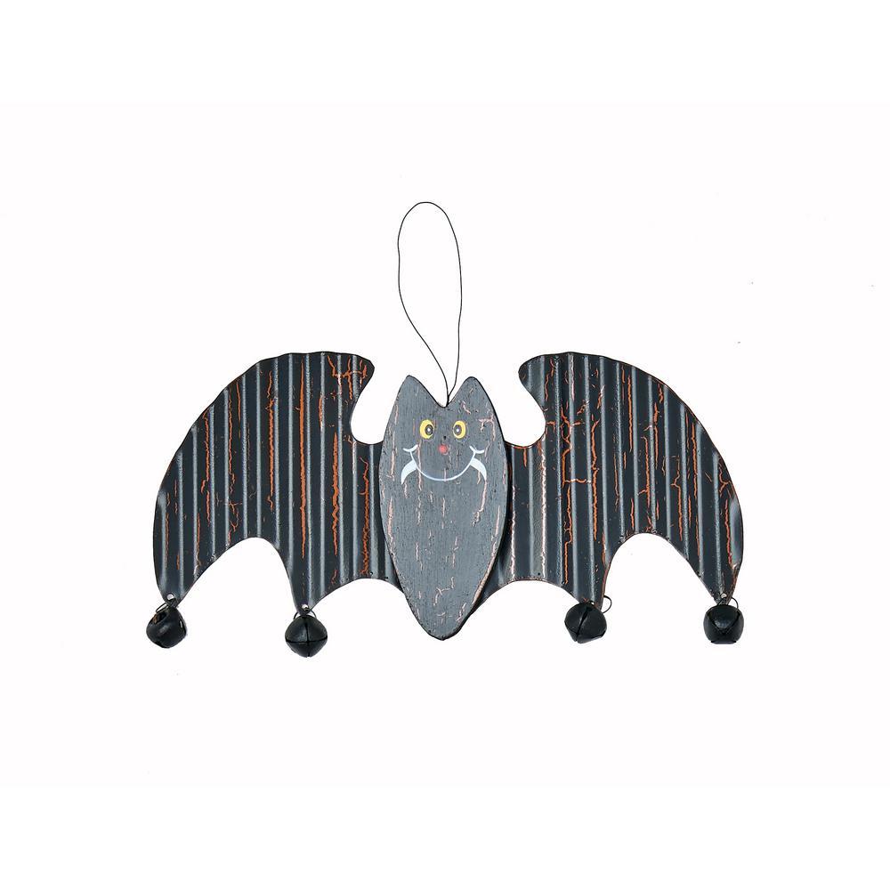 8 in. Metal and Wood Hanging Bat