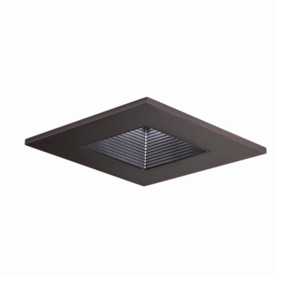 Halo 3 In Tuscan Bronze Recessed Ceiling Light Square Adjule Baffle Trim