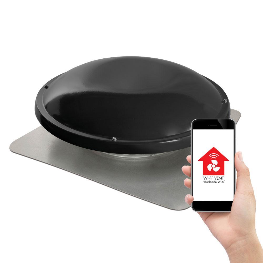 1250 CFM Black Wi-Fi Power Roof Mount Attic Fan