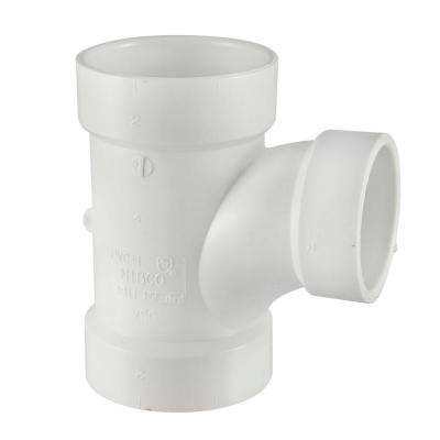3 in. x 3 in. x 1-1/2 in. PVC DWV All-Hub Sanitary Reducing Tee
