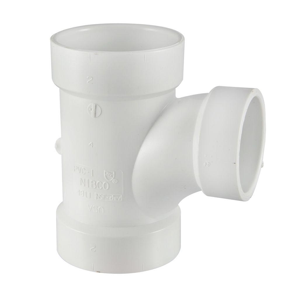 3 In  X 3 In  X 2 In  Pvc Dwv All-hub Sanitary Tee-c4811hd332