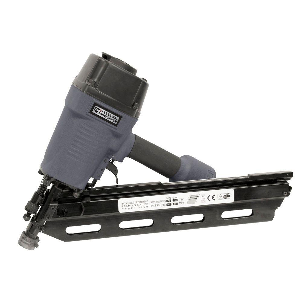 Professional Woodworker 16-Gauge Clipped Head Framing Nailer