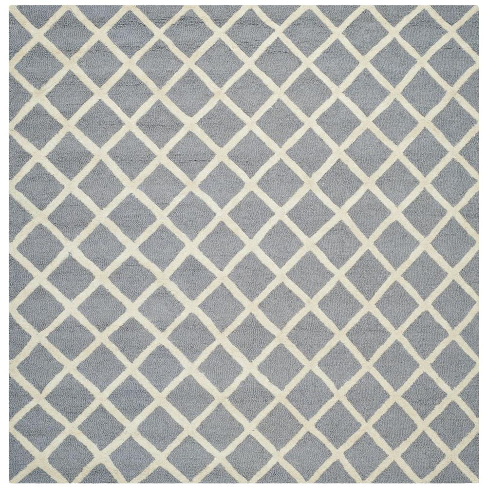 Cambridge Silver/Ivory 4 ft. x 4 ft. Square Area Rug