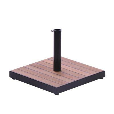 Tile Square Patio Umbrella Base in Aged Teak