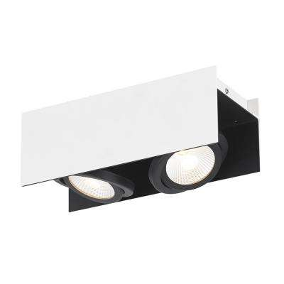 Vidago 1 ft. White and Black Integrated LED Track Lighting Kit