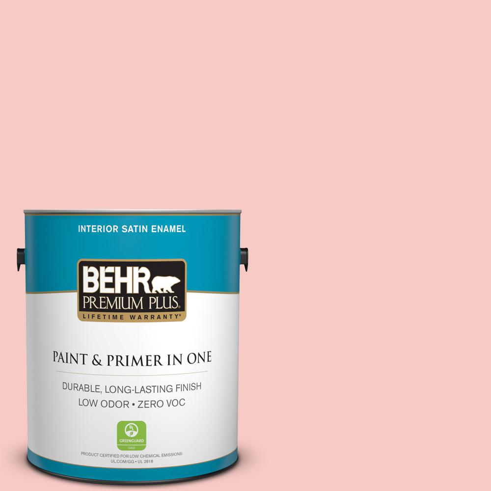 1-gal. #160C-2 Flush Pink Zero VOC Satin Enamel Interior Paint