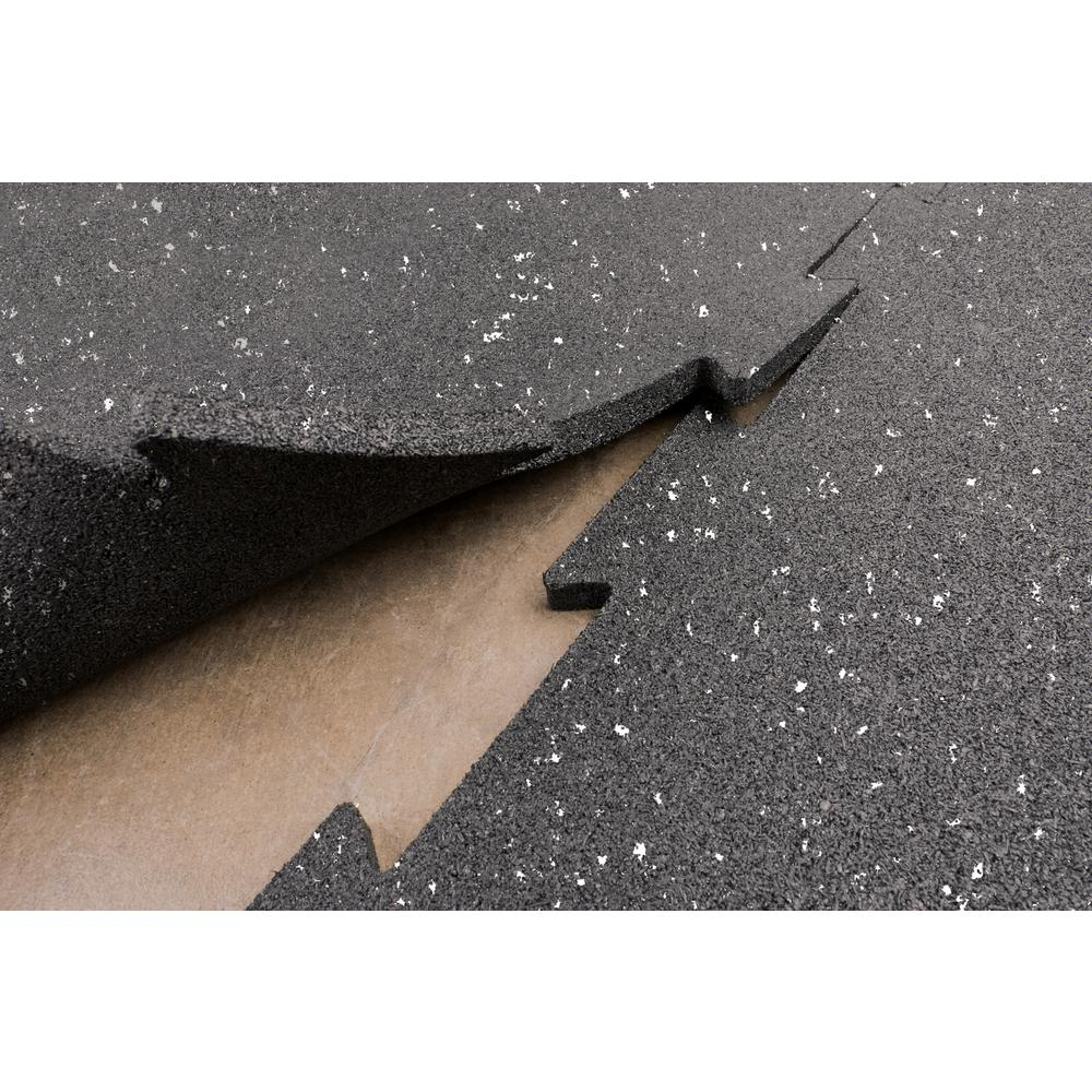 Body-Solid Tools Puzzle Black with Grey Specks Mats Speckled (4-Pack)