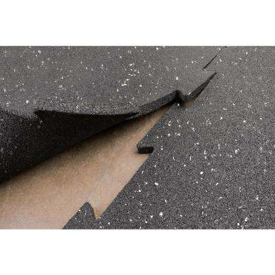 Puzzle Black with Grey Specks Mats Speckled (4-Pack)