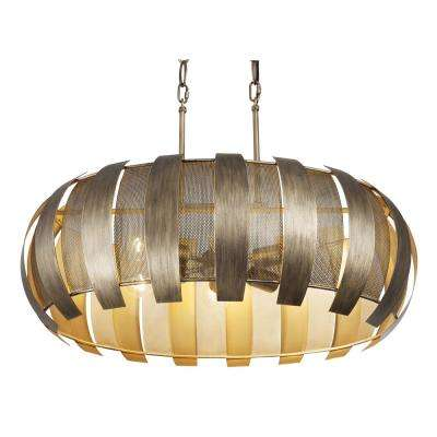 Sawyers Bar 6-Light Havana Gold Linear Pendant