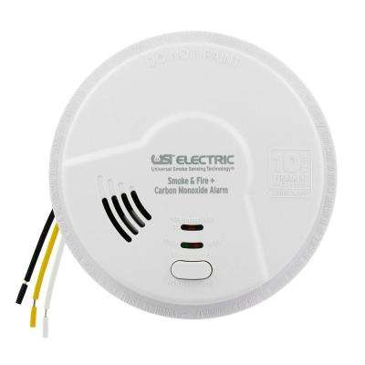 10-Year Sealed Battery Backup, Hardwired, 3-In-1 Smoke, Fire And Carbon Monoxide Detector, Microprocessor Intelligence