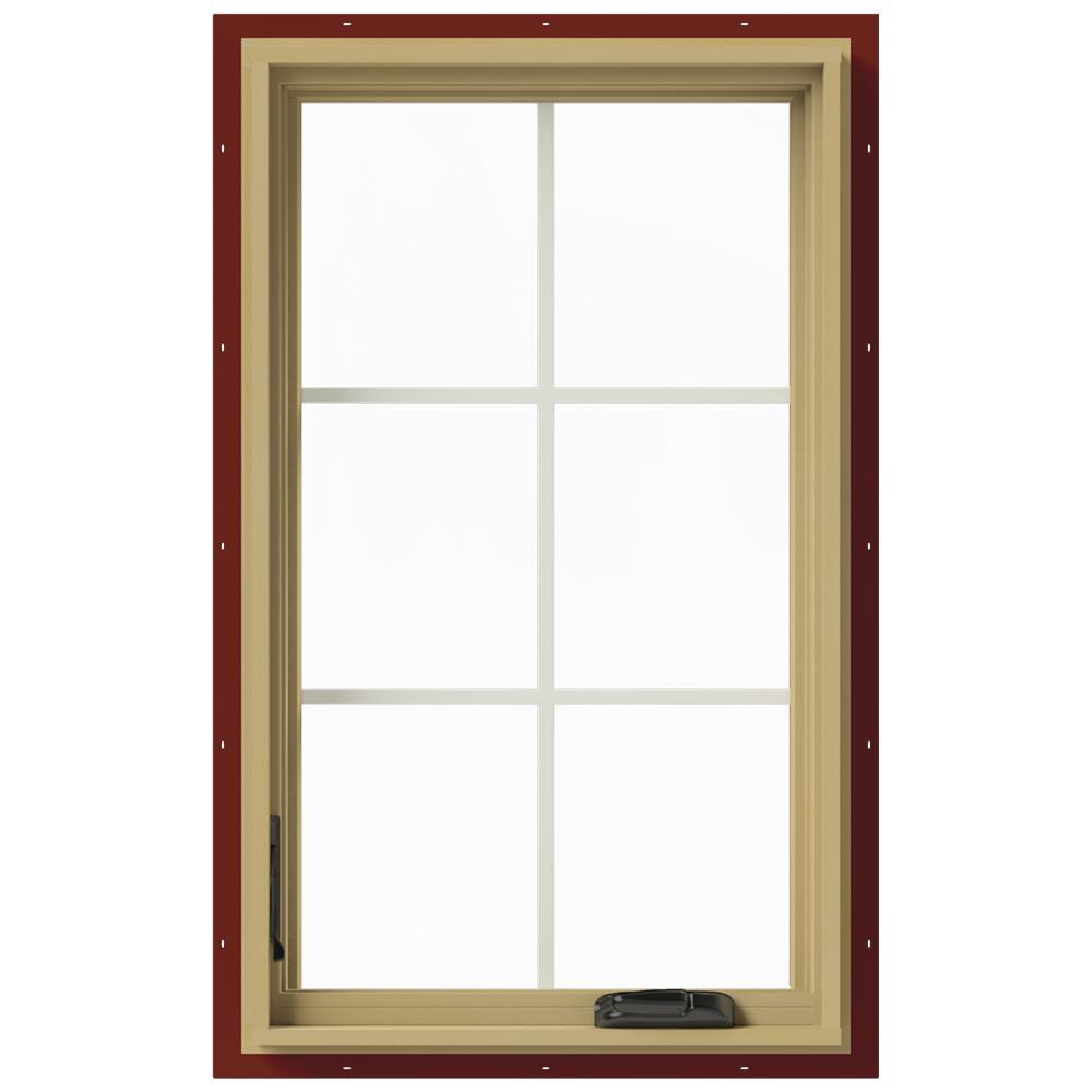 Wood Casement Windows : Jeld wen in w left hand casement