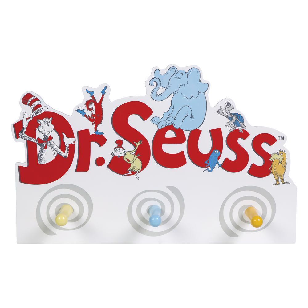 Trend Lab Dr. Seuss 18 in. W x 4 in. D Friends Decorative Peg Hook