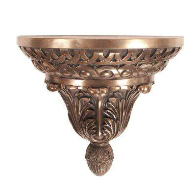 Ornate Bronze Round Wall Shelf