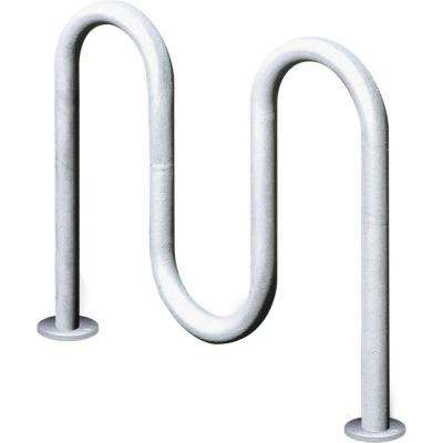 2 ft Galvanized, 3-Loop Surface Mount Contemporary Commercial Bike Rack