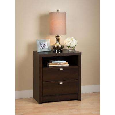 Series 9 2-Drawer Espresso Nightstand