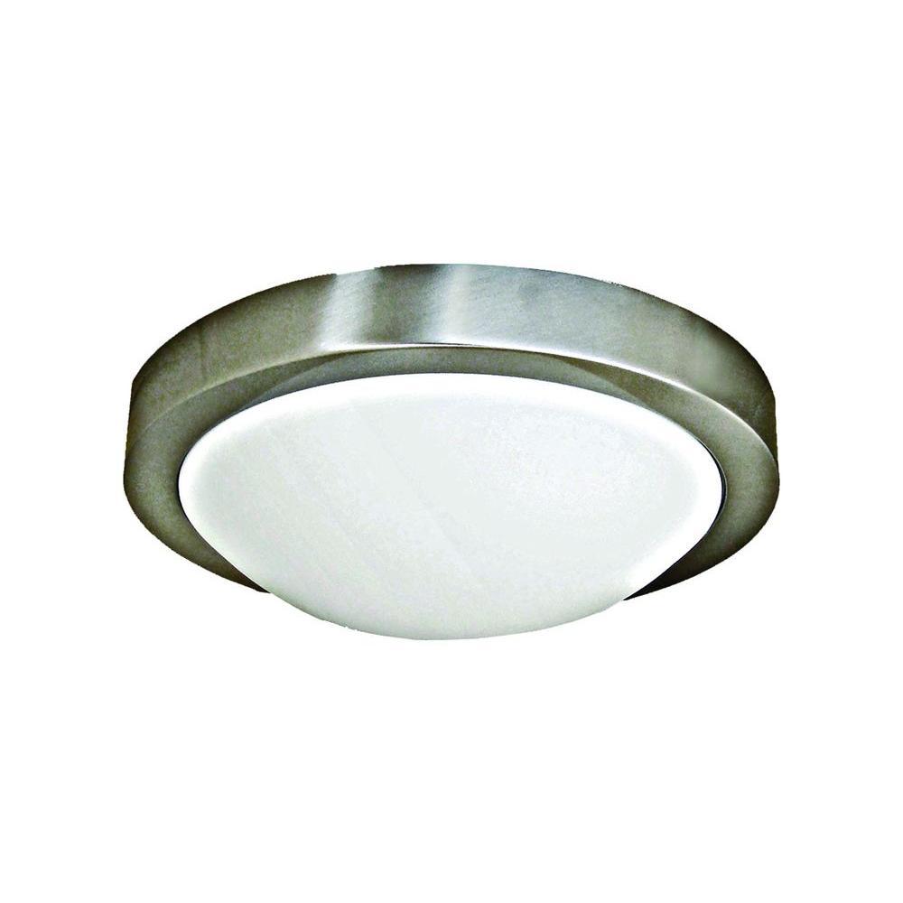 Marquis Lighting Rowan 2-Light Satin Chrome Flushmount