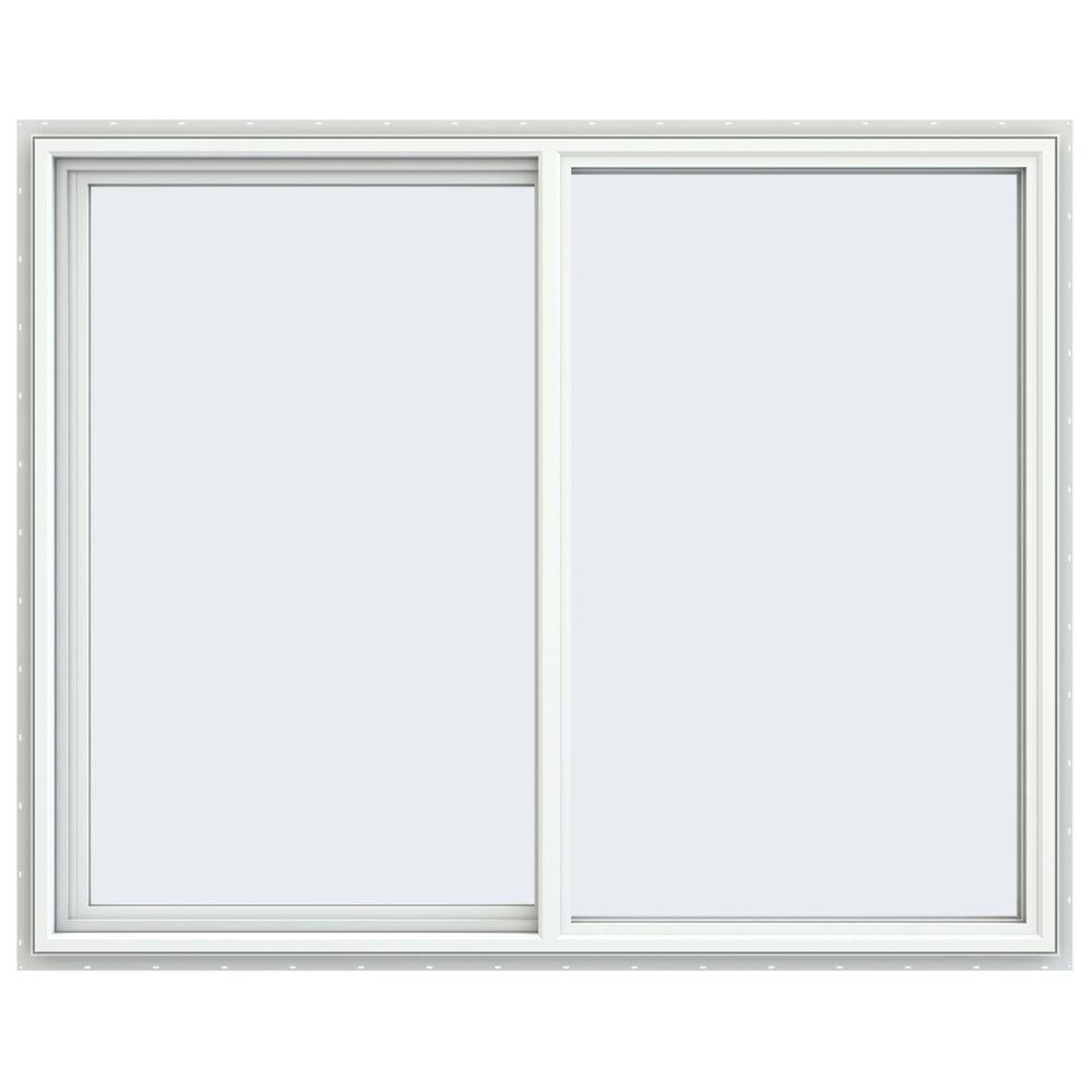 59.5 in. x 47.5 in. V-4500 Series Left-Hand Sliding Vinyl Windows - White