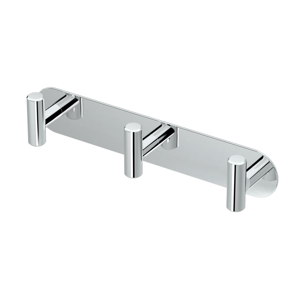 Gatco Latitude II All Modern Decor Triple Robe Hook in Chrome