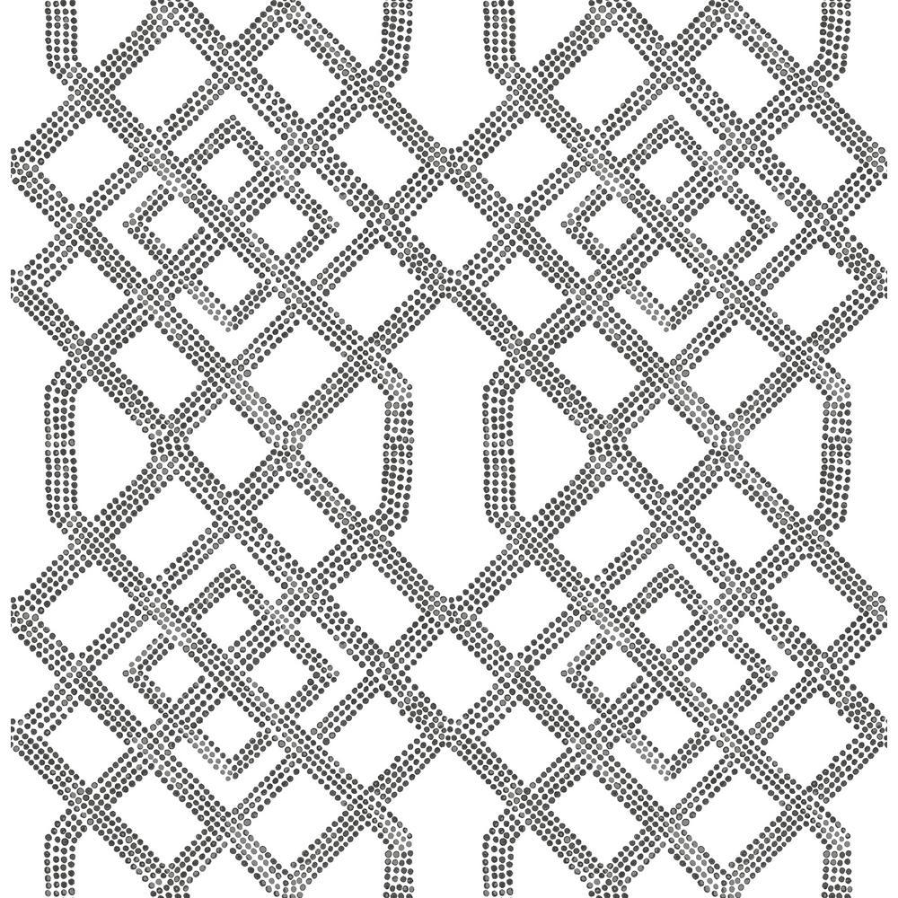 Traverse Black Trellis Wallpaper