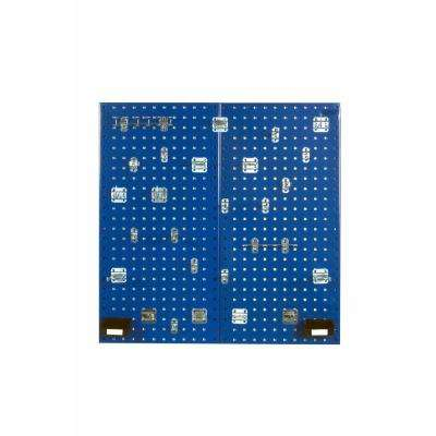 3/8 in. (2) Blue Steel Square Hole Pegboard Organizer Kit