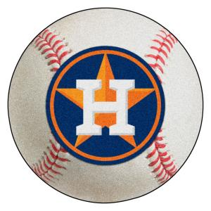 MLB Houston Astros Photorealistic 27 in. Round Baseball Mat