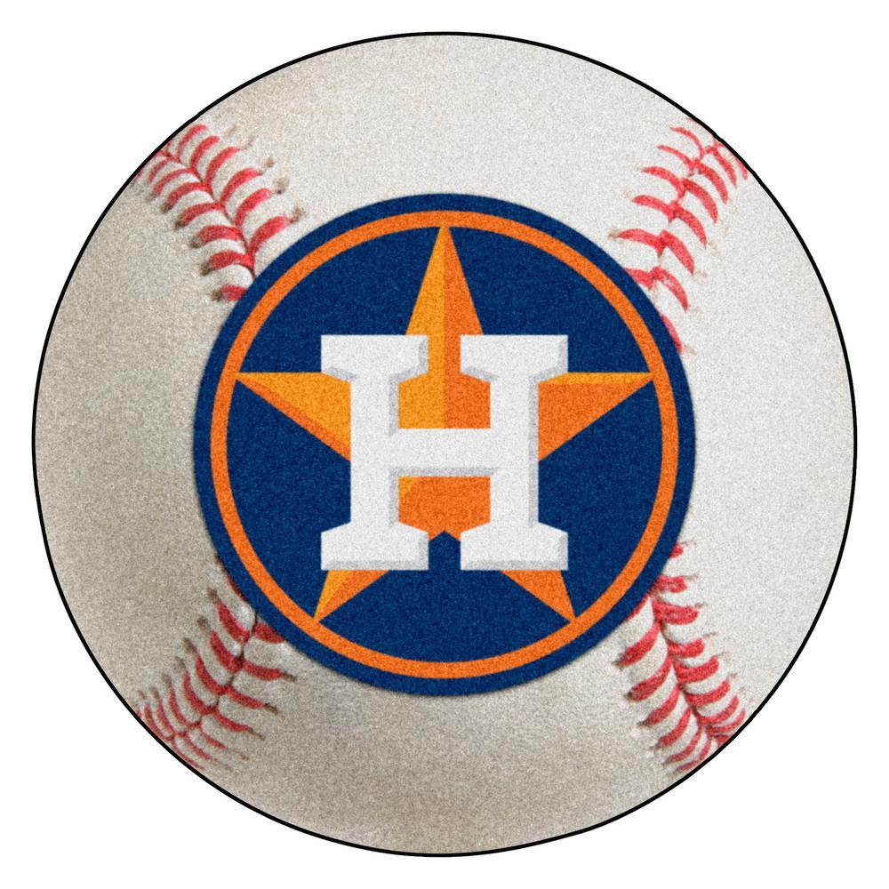 MLB Houston Astros Photorealistic 27 in. Round Baseball Mat