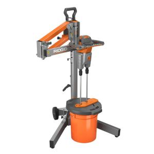 Ridgid Dual Paddle Programmable Power Mixer with Stand by RIDGID