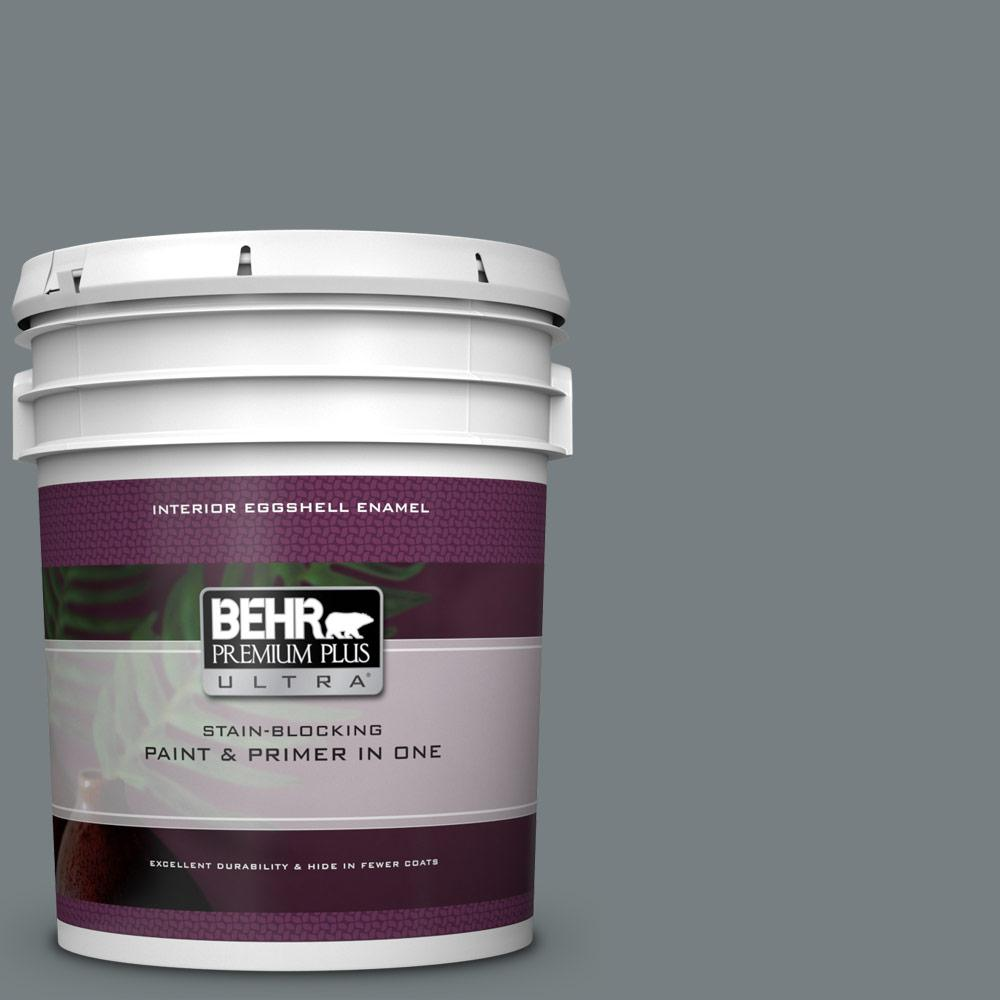 764aeaf6faa BEHR Premium Plus Ultra 5 gal.  N450-5 Intergalactic Eggshell Enamel  Interior Paint