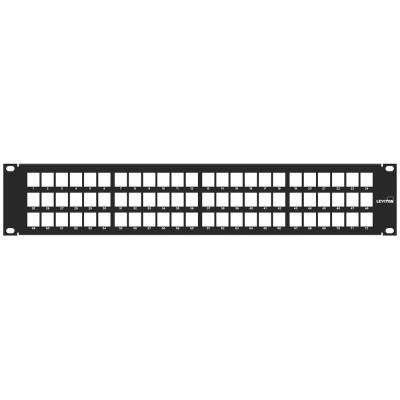 72-Port QuickPort 2RU Patch Panel Cable Management Bar, Black