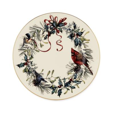 Winter Greetings Ivory Salad Plate