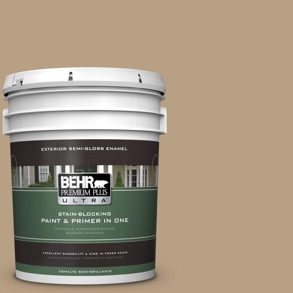 BEHR Premium Plus Ultra Home Decorators Collection 5-gal. #HDC-AC-12 Craft Brown Semi-Gloss Enamel Exterior Paint