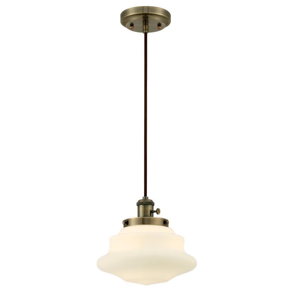 1 Light White Adjule Mini Pendant 7028600 The Home Depot