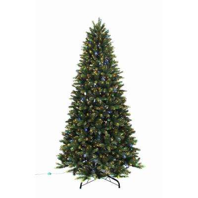 9 ft. Pre-Lit LED Color Changing 9-Function Artificial Christmas Tree with 1500 Warm White/Multi Micro Dot Lights