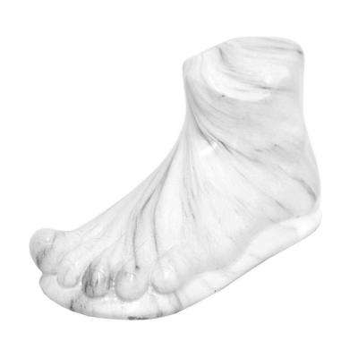 4.75 in. White Marble Look Foot Decoration